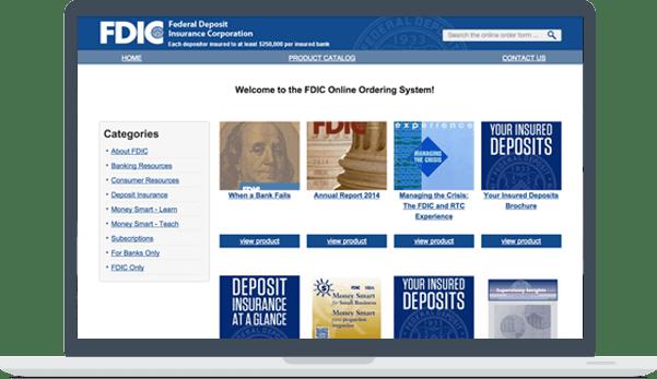 FDIC Online Store website