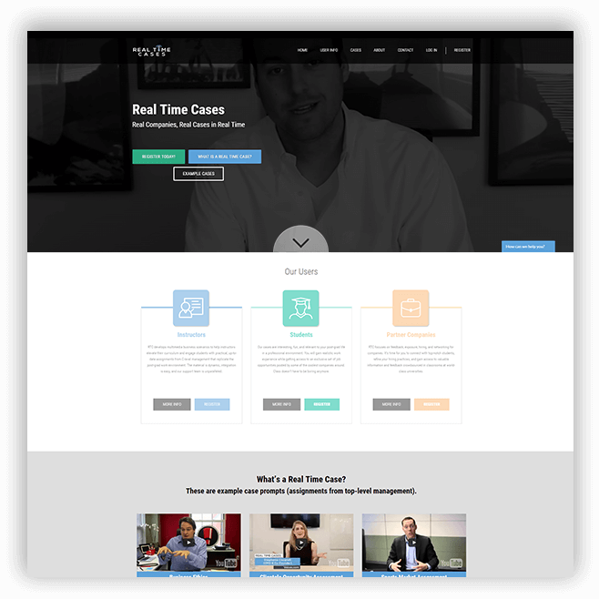 Real Time Cases website