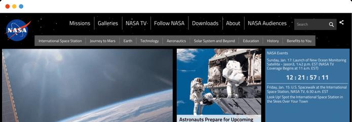 nasa-website-browser